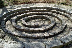 Wasserspirale im Aussenbereich