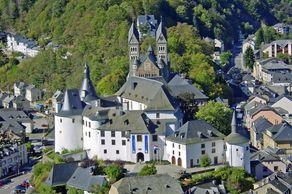 Das Schloss in Clerveaux in den luxemburgischen Ardennen