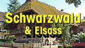 Typisches Schwarzwaldhaus mit Text SCHWARZWALD