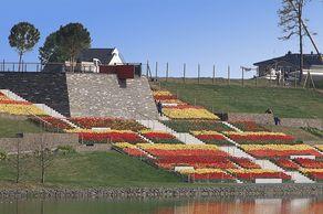 Landesgartenschau Zülpich – ein Highlight war die Römerbastion – Aussichtpunkt mit einem Blumenmeer