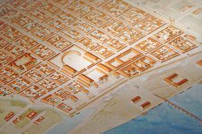Köln – römischer Stadtplan. Zeichnung aus dem Römisch-Germanischen Museum