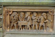Köln – Heinzelmännchen Brunnen - Relief zum Thema Bäcker