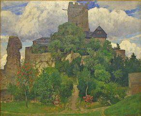 """Kulturhaus Beda – Gemälde """"Burg Kerpen"""" von Fritz von Wille"""