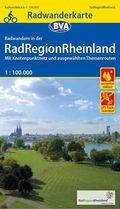 Radwanderkarte für das Rheinland