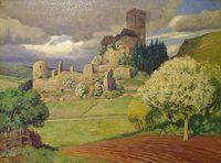 Burg Kerpen – Gemälde von Fritz von Wille