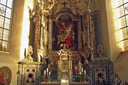Heimbach – barocker Altar in der Kirche St. Clemens