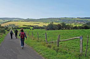 Typische Eifellandschaft auf dem Jakobsweg kurz vor Kronenburg