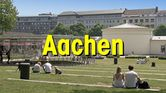 Button Aachen Park mit Text Aachen