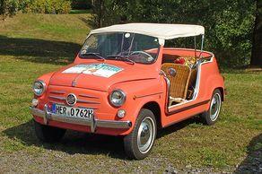 Ein seltenes Exemplar: Fiat 500 Jolly im besten Zustand bei der Budentour