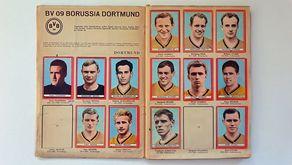 Seiten aus dem Fußball-Sammelalbum 1963/64 mit der Mannschaft von Borussia Dortmund. © Repro Rhein-Eifel.TV