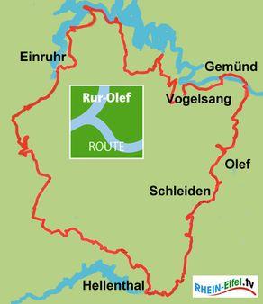 Rur-Olef-Route – Karte mit Streckenverlauf