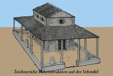 """Matronenheiligtum """"Vor Hirschberg"""" in der Eifel – Rekontruktionszeichnung"""