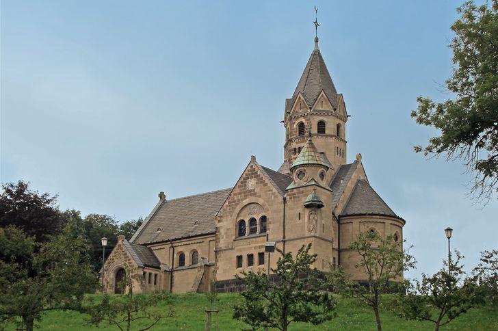 Erlöserkirche in Mirbach – 1902 erbaut im neuromaischen Stil