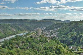 Traumpfad Koberner Burgpfad – Aussicht auf Kobern-Gondorf und die Niederburg