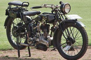 Eine Ardie (Baujahr 1928) mit 9 PS bei der Motorrad-Veteranen-Rallye Dom-Esch