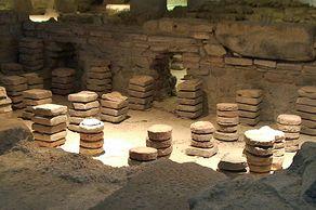 Römerthermen Zülpich – Museum der Badekultur – Detail der römischen Heizung
