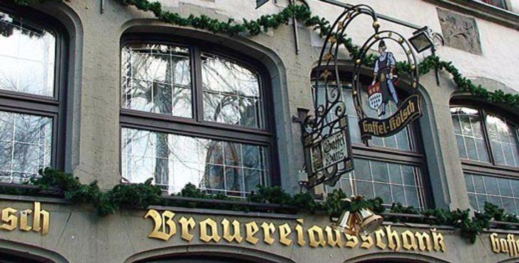 """Kölner Brauhäuser – Schriftzug über dem Brauhaus """"Zum Prinzen"""""""