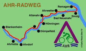 Ahr-Radweg – Karte mit Streckenverlauf