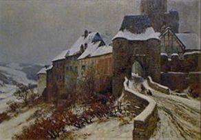 Fritz von Wille – Burg Reifferscheid im Winter, 1907