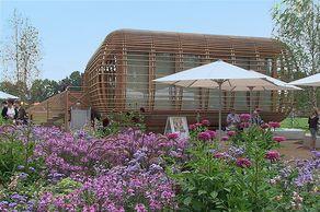 Bundesgartenschau 2011 in Koblenz – Pavillon aus Holz mit Mustergarten