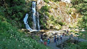 Triberger Wasserfälle – untere Besucherplattform vor den Wasserfällen