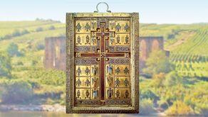 Kloster Stuben – Teil der sogenannten Staurothek, einem reichverziertes Kreuzreliquiar aus der Sammlung der byzantinischen Kaiser (heute im Diözesanmuseum Limburg an der Lahn)