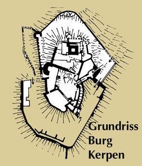 Burg Kerpen in der Eifel – Grundriss