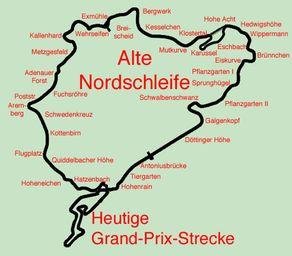Nürburgring Streckenplan – das 24h Rennen führt über die Norschleife