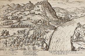 Königswinter im Mittelalter – Stich von Hogenberg