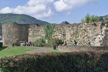 Boppard – Mauerreste des Römerkastells mit Turm