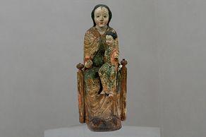 KOLUMBA – Kunstmuseum Köln – Pingsdorfer Madonna – frühromanische Madonnenfigur aus dem 12. Jahrhundert