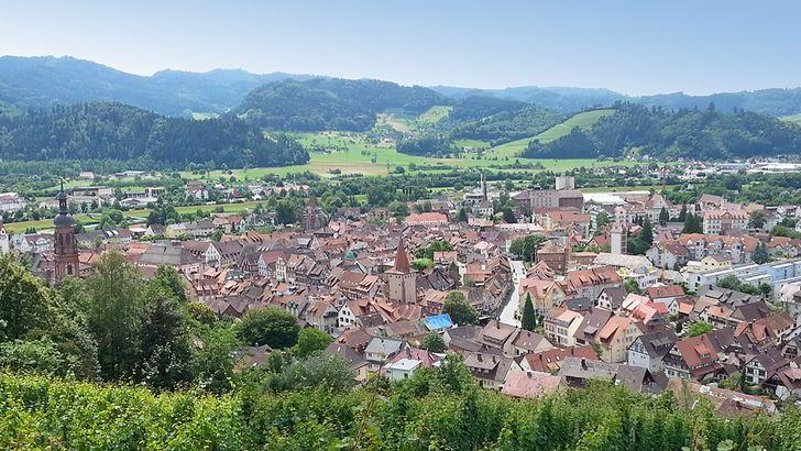 Blick auf Gengenbach und das Kinzigtal im Schwarzwald