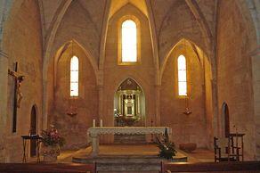 Santanyí – Innenraum der Capella de Roser von 1278