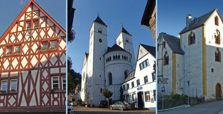 Treis-Karden – Sehenswürdigkeiten in Karden: Fachwerkhaus, Stiftskirche St. Castor und Haus Korbisch