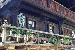 Fassadendetail des Lorenzenhofes – ein Beispiel für das Kinzigtäler Haus