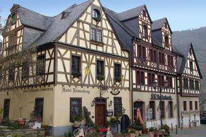 Oberwesel – Fachwerkhäuser am Marktplatz