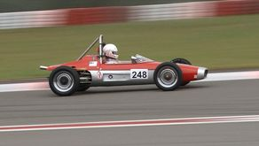 Ein RPB (Racing Plast Burträsk) – Formel V-Fahrzeug aus dem Jahr 1967 mit Stephan Gremler am Steuer