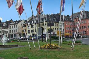 Prüm – Europaplatz im Zentrum der Stadt