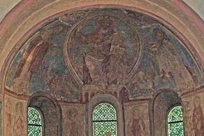 Nideggen – romanische Kirche – Fresken im Chorraum