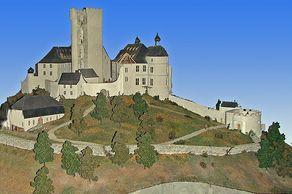 Burg Olbrück – Modell im Burgmuseum