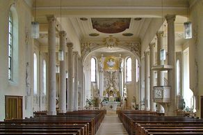 Haslach – Innenraum der katholischen Pfarrkirche St. Arbogast