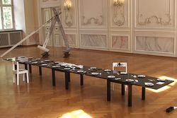 EVBK – Ausstellung in Prüm – Installation im großen Saal der Abteigebäude