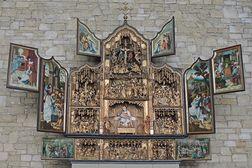 Heimbach – Flügelaltar aus der Abtei Mariawald in der modernen Wallfahrtskirche St. Salvator