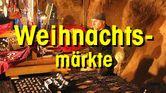 Weihnachtsmarktstand mit Text Weihnachtsmärkte