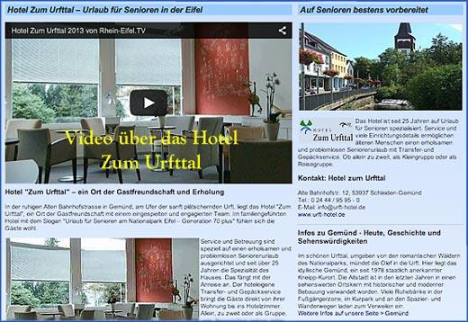 Hotelwerbung mit Video – Beispiel