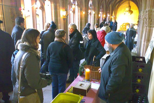 Adventsmarkt auf dem Stiftsberg in Kyllburg © Foto Freunde der Kyllburger Stiftskirche e.V.